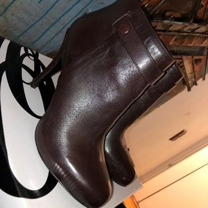 Nine West Brown Ankle Booties